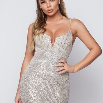Alegra Sparkle Bodycon Mini Dress