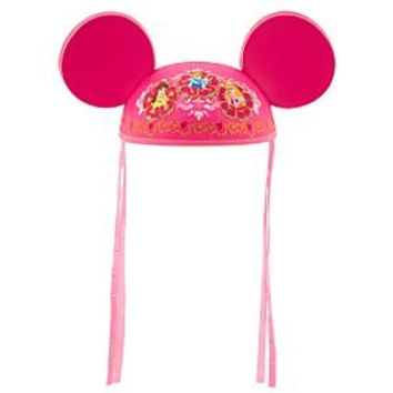 Pink Disney Princess Mickey/Minnie Mouse Ears Hat: Cinderella, Belle & Aurora