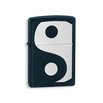 Zippo Yin & Yang Black Matte Lighter - Engravable Personalized Gift Item