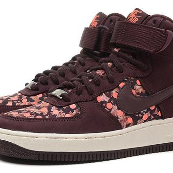 PEAPON Nike Air Force 1 Liberty Qs Red For Women Men Running Sport Casual Shoes Sneakers
