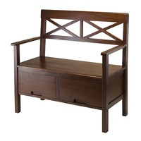 Winsome Madelyn Storage Bench (Brown)