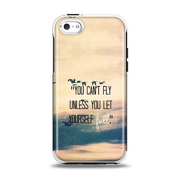 The Pastel Sunset You Cant Fly Unless You Let Yourself Fall Apple iPhone 5c Otterbox Symmetry Case Skin Set