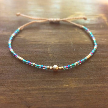 Rose Gold Best Friend Gift - Friendship Bracelet - Best Friend Bracelet - Bridesmaid Gift - Beaded Bracelet - Boho Jewelry