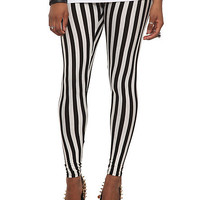 Black & White Stripe Leggings Pre-Order | Hot Topic