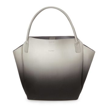 Black and Grey Ombre Tote | fake leather bag, faux leather