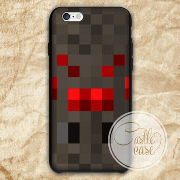 Minecraft Cave Spider Black White iPhone 4/4S, 5/5S, 5C Series Hard Plastic Case