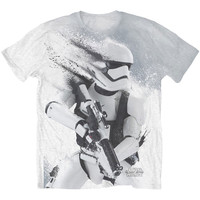 Star Wars Men's  Storm Trooper Sublimation T-shirt White Rockabilia