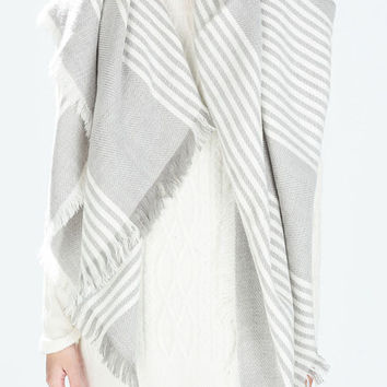White Fringed Scarf