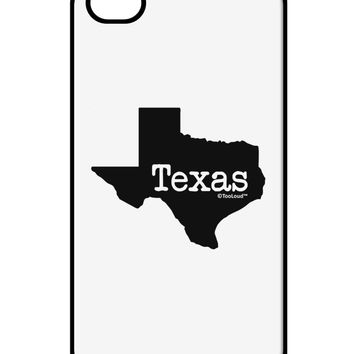 Texas - United States Shape iPhone 4 / 4S Case  by TooLoud