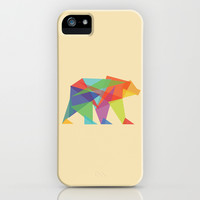Fractal Geometric bear iPhone & iPod Case by Budi Satria Kwan