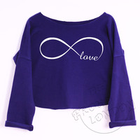 """Love Infinity"" Funny Fashion Geek Trendy Crop Top"