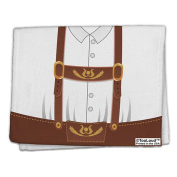"Lederhosen Costume Brown 11""x18"" Dish Fingertip Towel All Over Print by TooLoud"