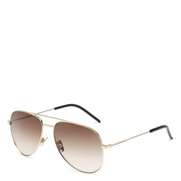 Saint Laurent Classic Aviator Sunglasses | Bloomingdales's