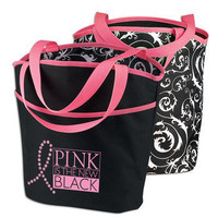 Pink Is The New Black Reversible Tote Bag | Positive Promotions