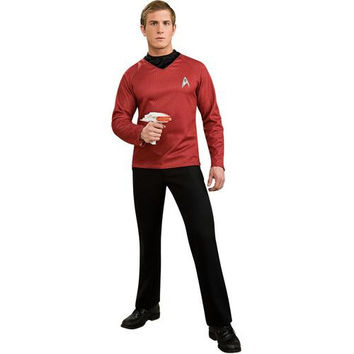 Men's Costume: Star Trek Movie Deluxe Red Shirt | Large