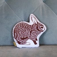 bunny . papercut plush . brown