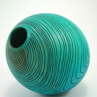 Topographical Blue Vessel by makye77 on Etsy