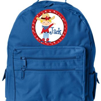 Cowboy Blonde  w/Name Jr. Backpack RBL