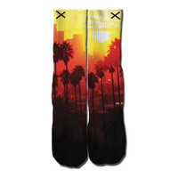 Sunset Blvd Socks