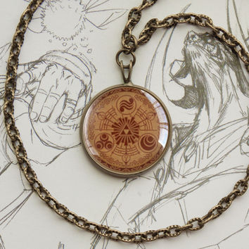 Zelda pendant Historia of Time bronze Necklace