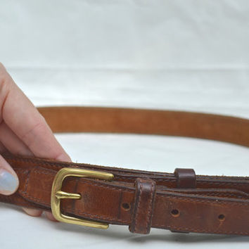 Leather Belt, Brown Belt, Belt, 1970s Belt, Belt, Brown Leather Belt, Vintage Belt, Vintage Brown Belt, Unisex belt, Women's belt,Men's Belt
