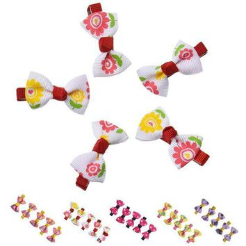 ONETOW JECKSION Hot Selling 2017 Hair Clips  Ribbon Hair Bows Hairdressing Tools Hair Accessories For Girls