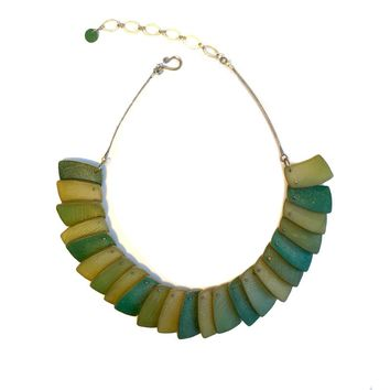 ALL NEW Green Map Necklace