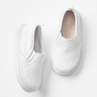 Eyelet slip-on sneakers