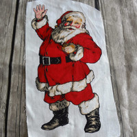 Vintage Santa Applique / Christmas / Sewing / Recycle / Embellishment / Holiday /