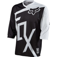 Fox Racing Covert Bike Jersey - 3/4-Sleeve - Men's Black/White,