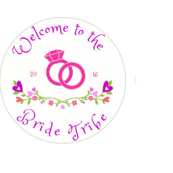 Welcome to the Bride Tribe- Bride Tribe Stickers- Wedding Party Stickers- Editable Stickers- 2 inch Stickers- Bridal Party Stickers