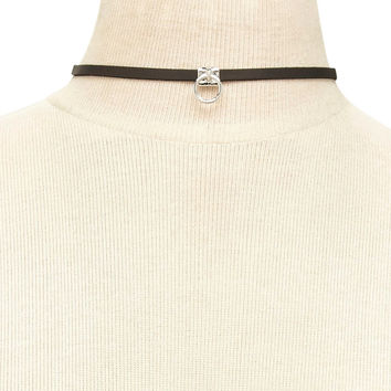Faux Leather O-Ring Choker