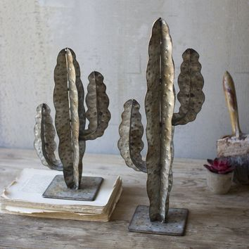 Metal Cacti (Set of 2)