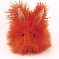 Carrot Top Stuffed Toy Bunny Faux Fur Plushie Momma by Fuzziggles