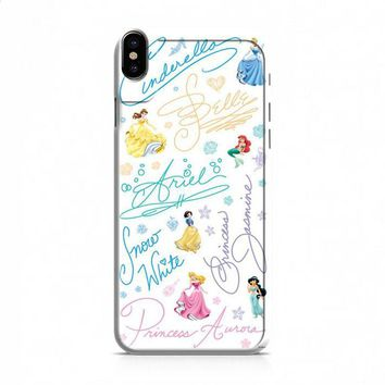 Disney Princess Sign iPhone X case