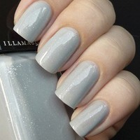 Raindrops is a sheer light grey, jelly finish nail varnish from Illamasqua