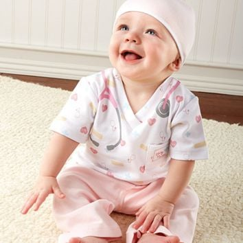 Pink Baby Nurse 3-Piece Layette Gift Set