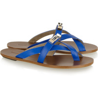 Proenza Schouler | Embellished leather sandals | NET-A-PORTER.COM
