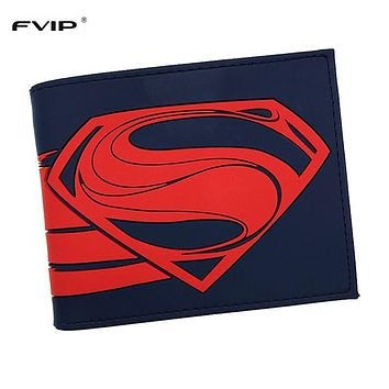 FVIP Hot Sell DC Comics Wallet Man of Steel Superman Purse Men's Cool Wallet Dollar Price