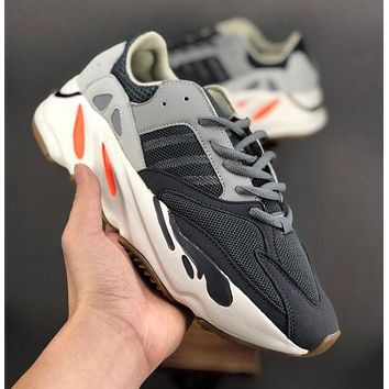 Free shipping-Adidas Yeezy Boost 700 V2 mesh breathable sneakers