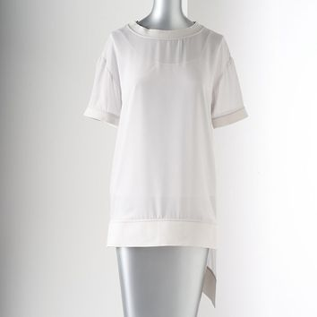 Simply Vera Vera Wang Asymmetric Chiffon Top