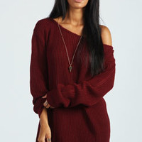 Kadie Slash Neck Fisherman Jumper Dress