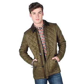 Fortnum Quilted Jacket in Olive by Barbour