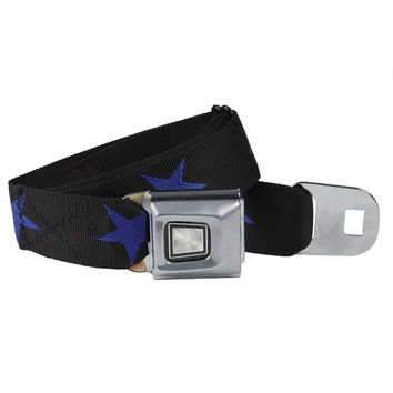Ford Burst Seatbelt - Star Blue Web Belt