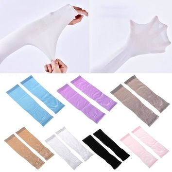 1Pair Outdoor Sports Riding Running Sunscreen Sleeve Cover UV Sun Protection Cooling Sport Arm Sleeves Gloves Golf Sunscreen Arm