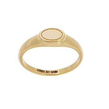 Oval Mini Ring 14KT