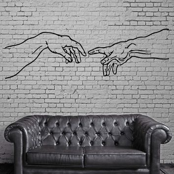 Sistine Chapel Creation of Adam Decor Wall Mural Vinyl Art Decal Sticker Unique Gift M477