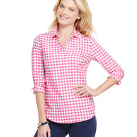 Flannel Gingham Button Down