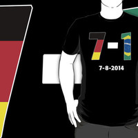 Amazing Germany Beats Brazil in the 2014 World Cup Game Flag Merchandise