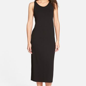 Women's Eileen Fisher Scoop Neck Jersey Midi Dress,